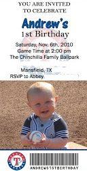Andrew's Baseball Birthday Bash- Texas