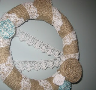 Burlap Lace Wreath