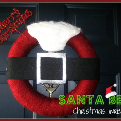 Santa Belt Wreath