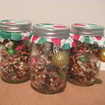 Christmas Bark in Mason Jars