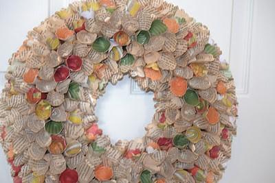 Cone Bookpage Wreath