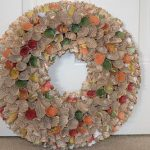 Cone Bookpage Wreath