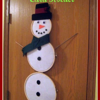 Snowman Holiday Card Holder