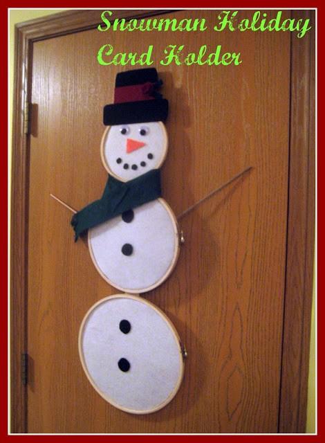 Snowman Holiday Card Holder