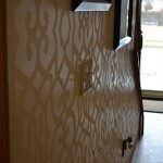 High Gloss Stenciled Wall and a Royal Design Studio Giveaway!