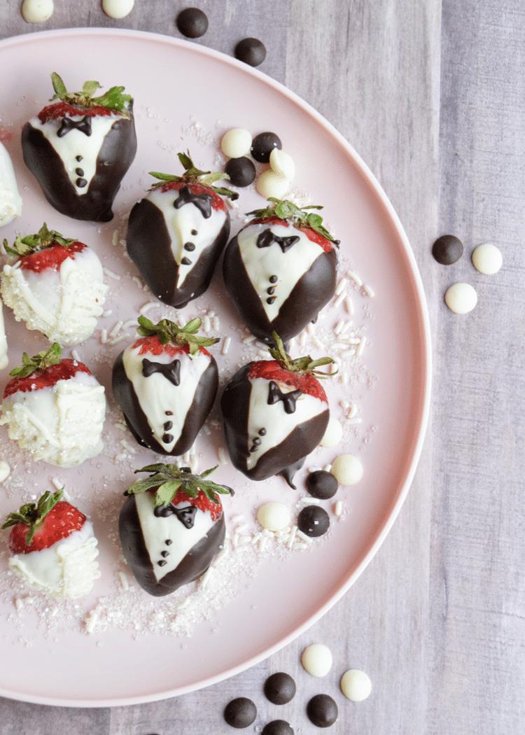 groom chocolate covered strawberries