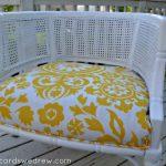 Cane Chair Makeover & Craft Room Sneak Peek!
