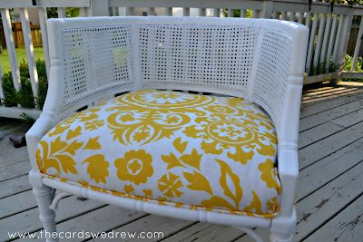 Cane Chair Makeover & Craft Room Sneak Peek!
