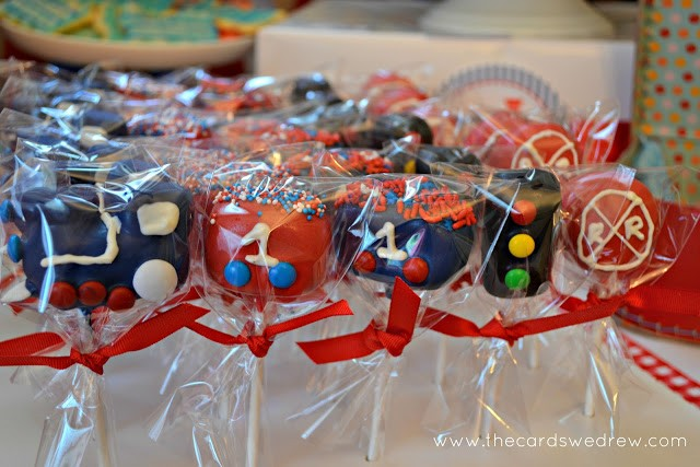 train party cake pops