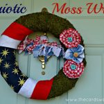 4th of July Moss Wreath