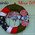 4th of July Moss Wreath