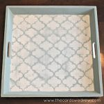 Stenciled Chalk Paint Tray (Makeover)