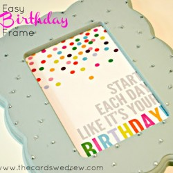 Easy Birthday Frame with Aleene's Glue