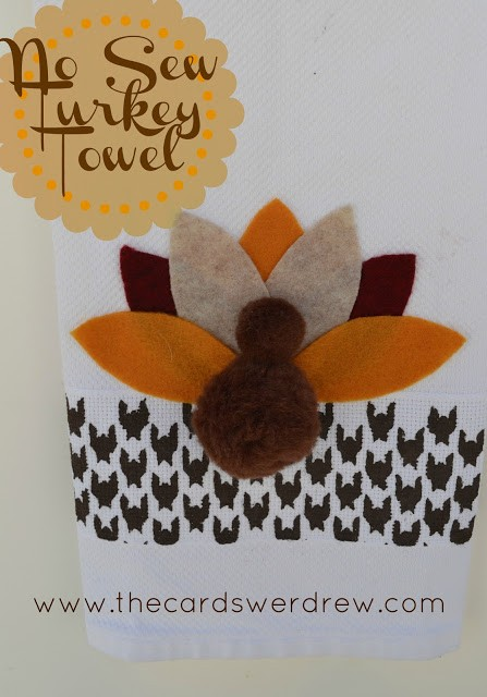 No+Sew+Stenciled+Turkey+Towel