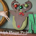 Rudolph Christmas Plaque
