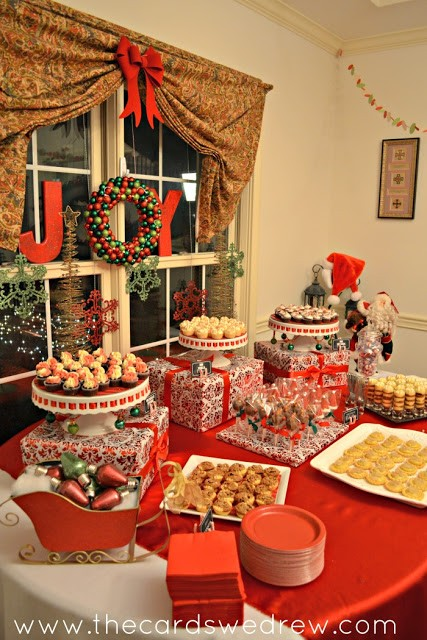 christmas+party+dessert+table