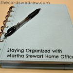 Getting Organized with Martha Stewart Home Office & a Giveaway!