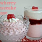 Valentine's Strawberry Cheesecake Mousse