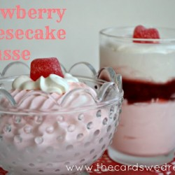 Valentine's Strawberry Cheesecake Mousse