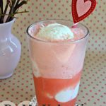 Be My Valentine Ice Cream Float