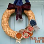 Fall Corn Husk Bow Wreath