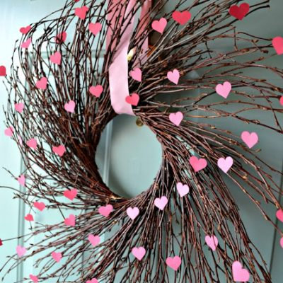 Valentine's Heart Willow Wreath