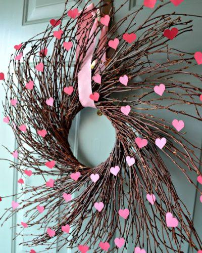 Valentine's Heart Willow Wreath