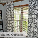 DIY Stenciled Curtains & Royal Design Giveaway