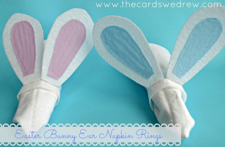 Easter Bunny Ear Napkin Rings