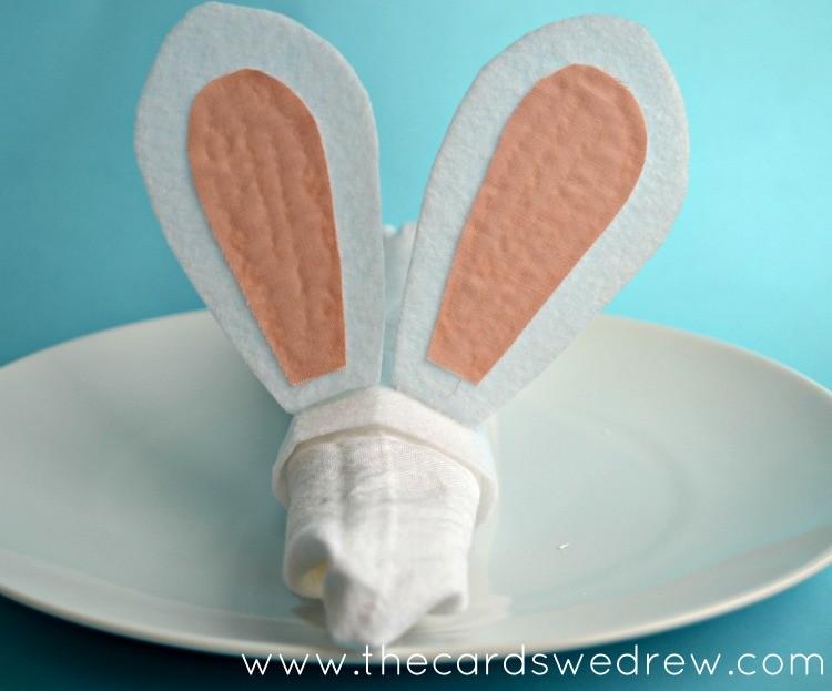 bunny ear napkin ring