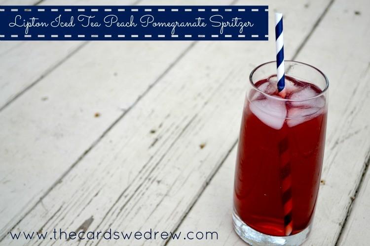 lipton iced tea peach pomegranate spritzer