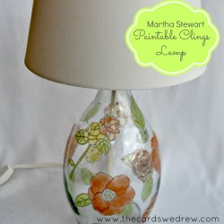 Martha Stewart Paintable Clings Lamp