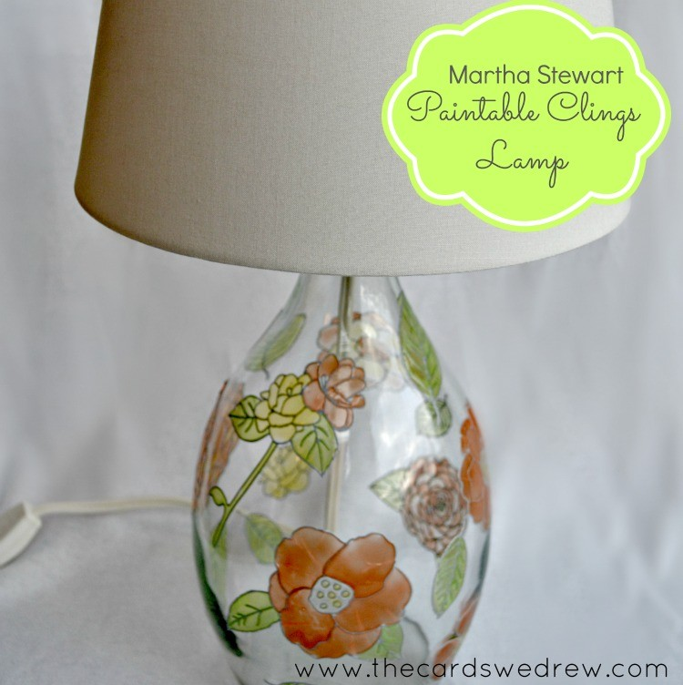 martha stewart paintable clings lamp from thecardswedrew