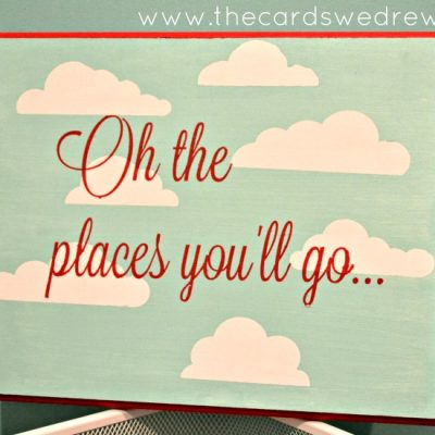 """Silhouette Promotion and """"Oh the places you'll go"""" wall art"""