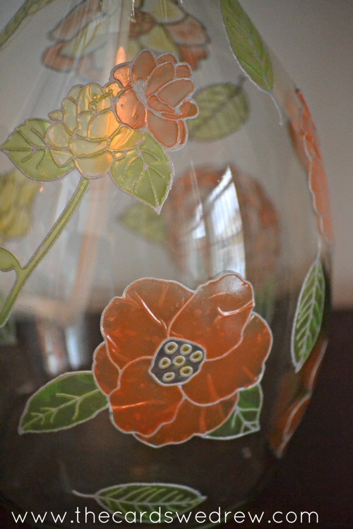 paintable flower lamp