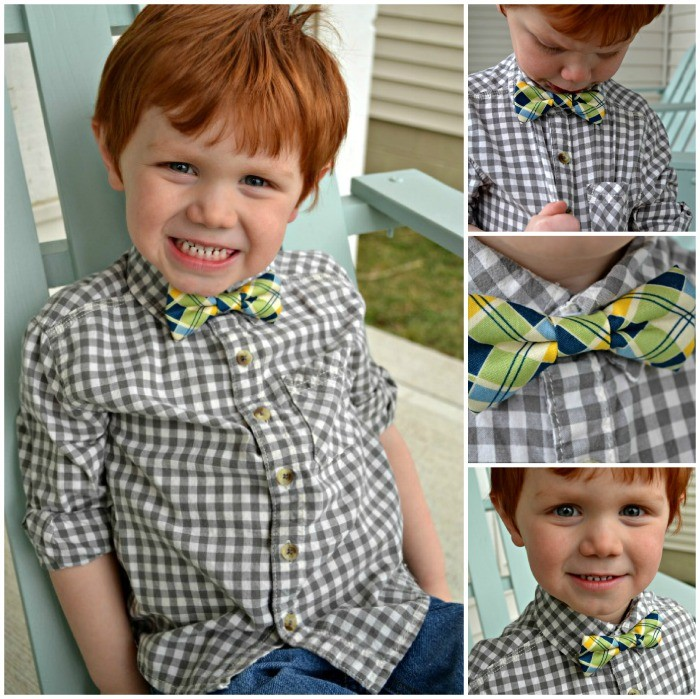 boys plaid bow tie