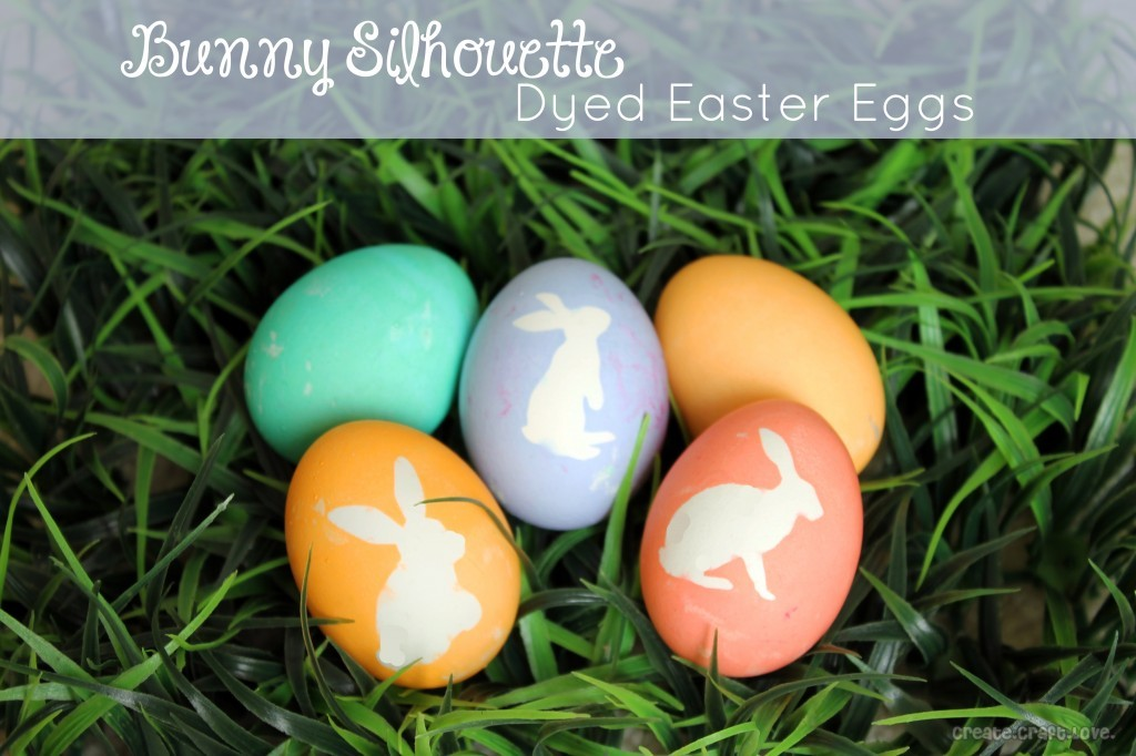 bunny silhouette died easter eggs