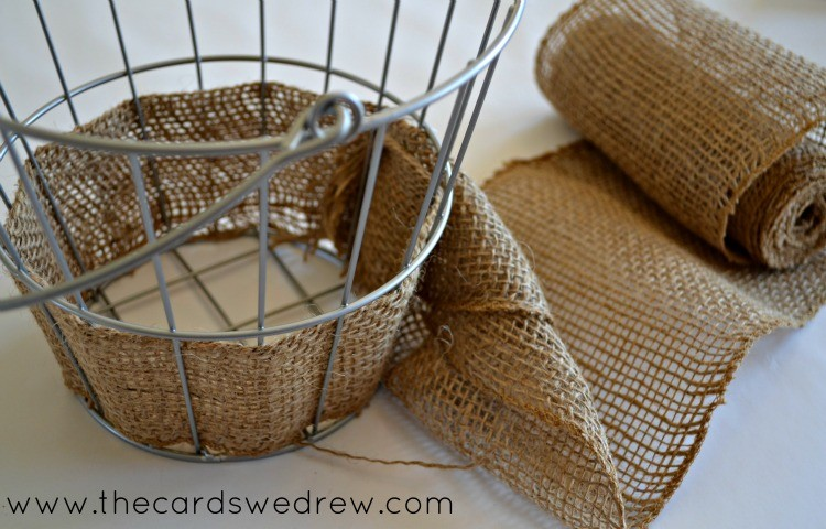 burlap wire easter basket
