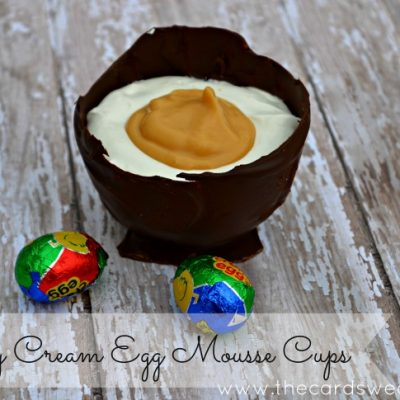 Cadbury Cream Egg Inspired Mousse Cups