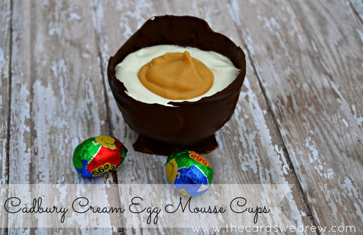 cadbury cream egg mousse cups