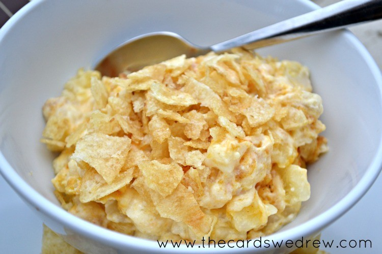 cheesy potatoes in a bowl