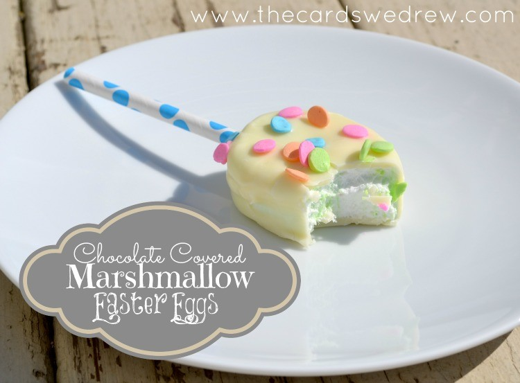 chocolate covered marshmallow easter eggs from thecardswedrew