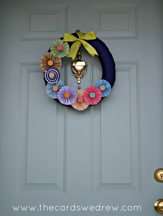 front door pinwheel wreath
