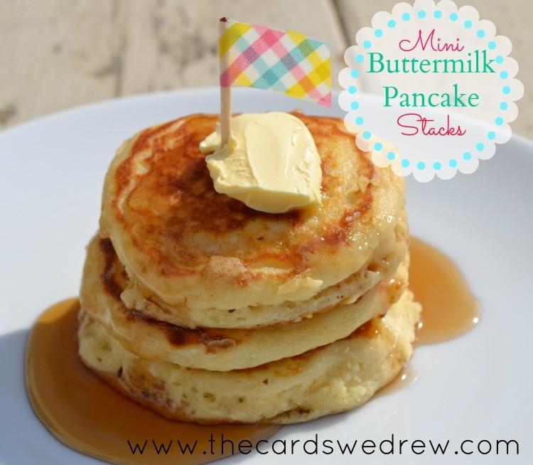 mini buttermilk pancake stacks