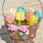 Polka Dot Burlap Wire Easter Basket