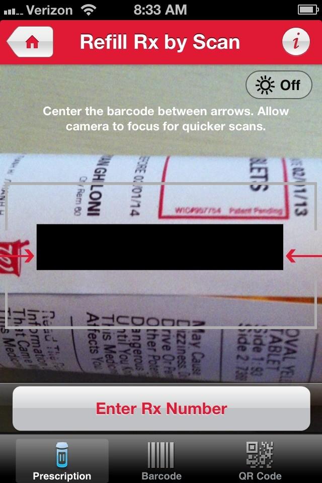 prescription refill scanning
