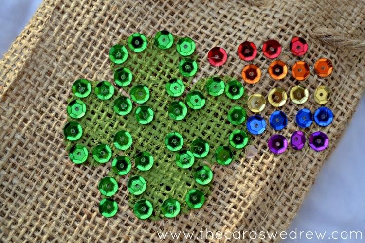 rainbow shamrock treat bag