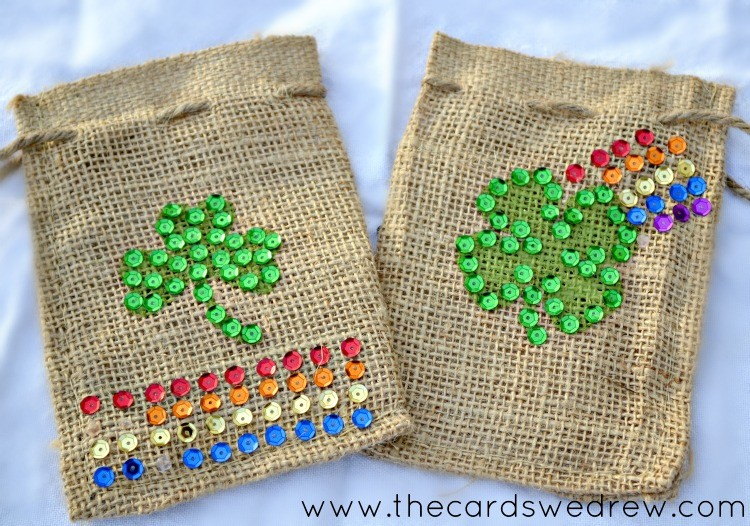 st patricks day treat bags