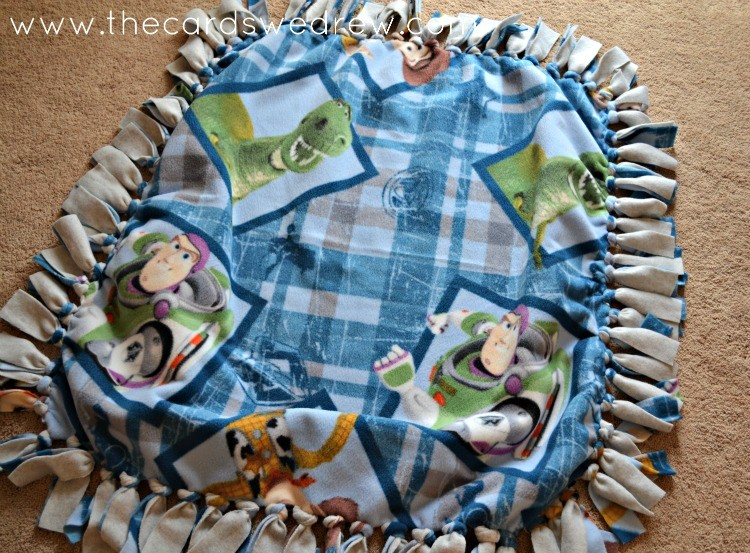 DIY Toy Story Fleece Blanket
