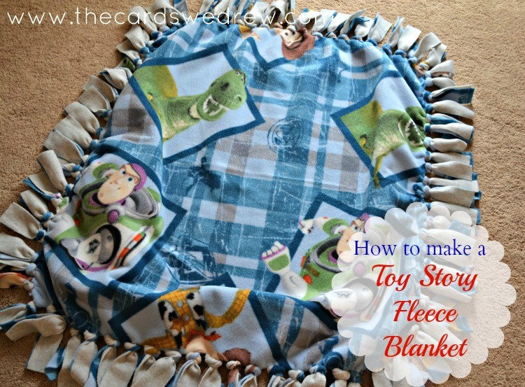 How To Make A Fleece Tie Blanket The Cards We Drew